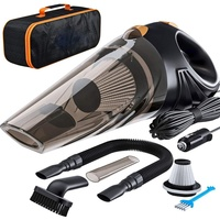 Steel Hepa 4800Pa DC12V Newest Promotion 120W Real Portable Car Vacuum Cleaner Wet and Dry Powerful for Amazon seller