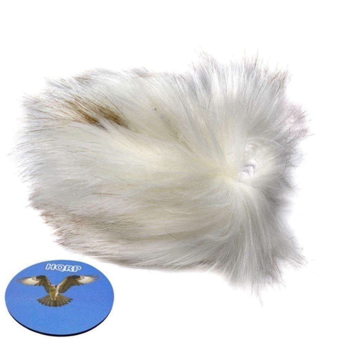 HQRP Outdoor Furry Microphone Windscreen Wind Screen Muff for MXL 990 plus HQRP Coaster