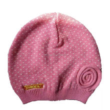 Wholesale cute cotton winter knitted baby hat/children hat