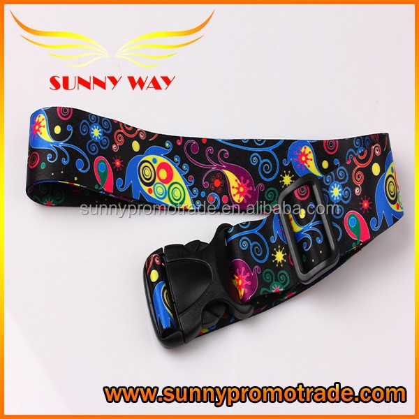 3.8cm adjustable lugagge tag strap with removable buckle