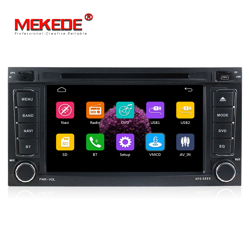 2 din Car head unit radio stereo for VW Touareg Multivan T5 (2002-2010) GPS Bluetooth Radio RDS USB IPOD Steering wheel