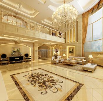 Graceful European Style Villa Foyer Interior Design 3d Rendering BF11 06303p