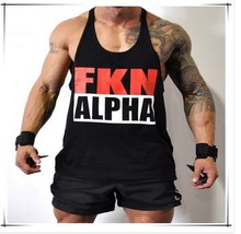 New FKN Muscle Tank Top Gym Vest Bodybuilding Clothing 100 cotton M 2XL Drop shipping