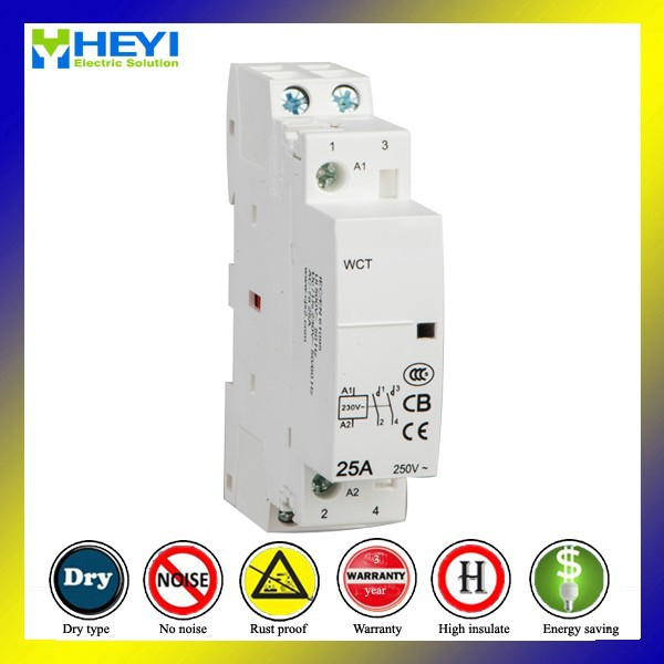 Household 220V Single Phase Contactor 25A 2 Pole 2nc 50Hz Electrical Type Operate