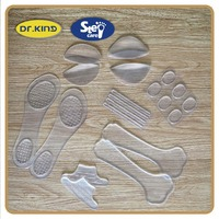 Foot care high performance silicone flat foot pad insole
