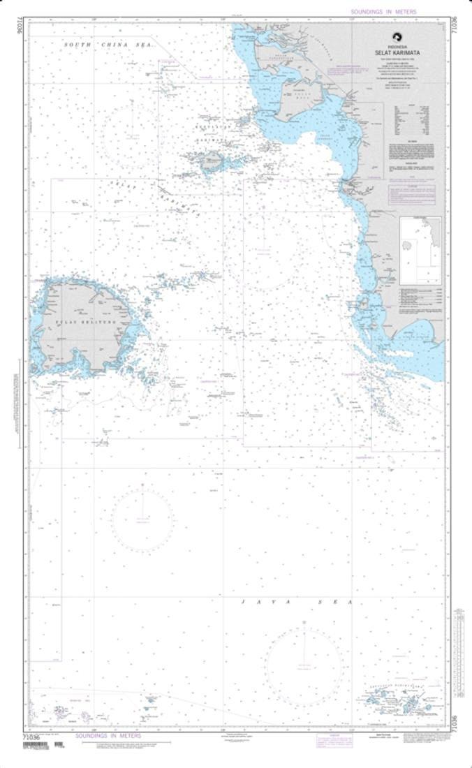 NGA Chart 71036-Selat Karimata - Indonesia