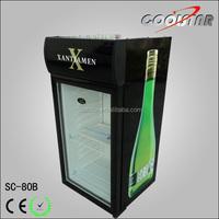 Beverage Cooler ,countertop mini fridge with glass door