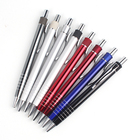 Huahao brand Customized Logo colorful Grip Click ballpoint Pen with logo print