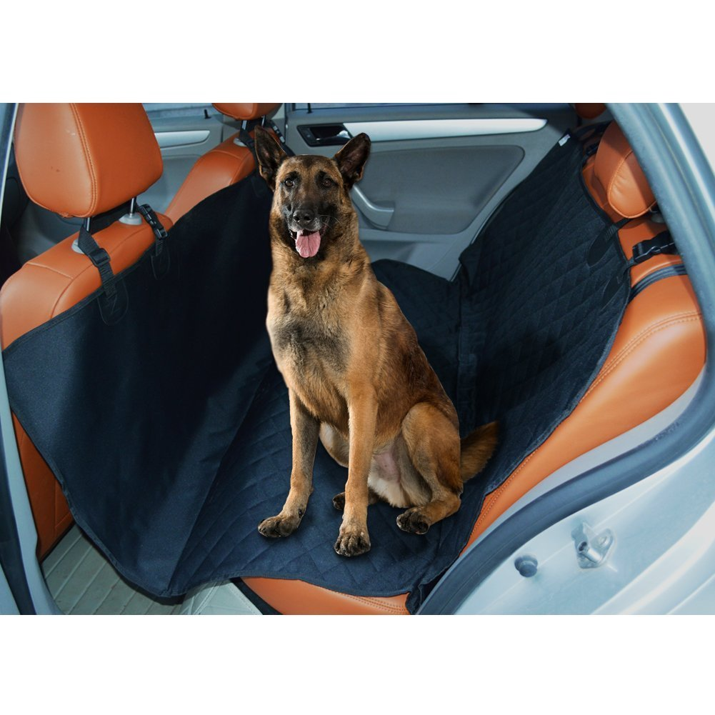 MC MIRACASE MiraCase Pet Seat Cover Dog Car Seat Cover - Waterproof, Scratch Proof, Non-scratch, Nonslip, Durable Quilted Dog Hammock Convertible Car Protector for Cars Trucks and SUVs