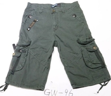 ready made fashion 3/4 mens cargo shorts with belt