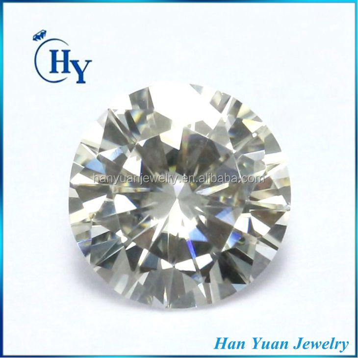 Turkey hot sale DEF color 5.5mm 0.5ct Round synthetic moissanite <strong>diamond</strong>
