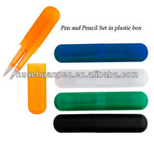 Popular pen and pencil set , pen with box ,twins pen