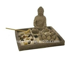 Asian Japanese Feng Shui Sand Zen Garden,Tabletop Zen Garden Kit