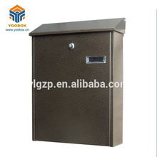 Hot Sale YooBox Customized Cast Iron Mailboxes with 16 Years Experience square stainless steel post mailbox