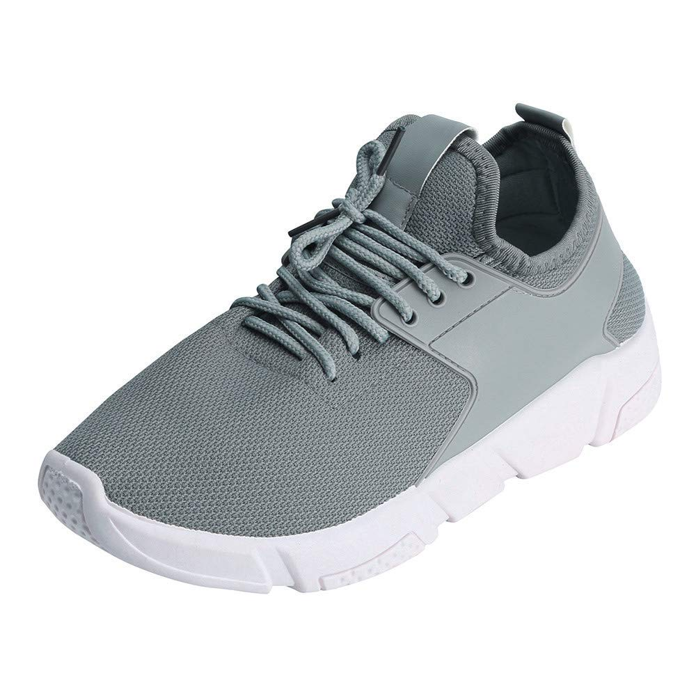 Caopixx Shoes for Men's Running Shoes Fashion Breathable Sneakers Mesh Soft Sole Casual Shoes