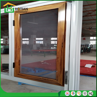 Vinyl profile PVC windows customized wooden color casement window