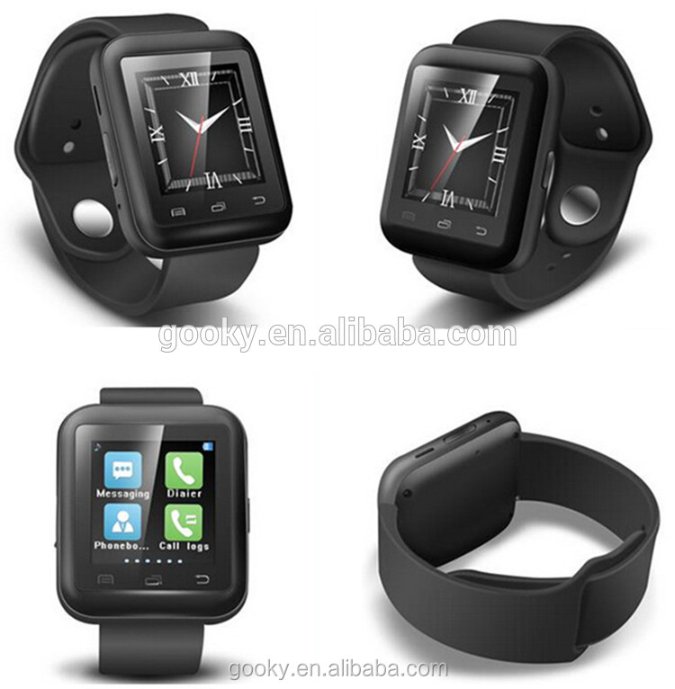 2017 latest wrist watch mobile phone, bluetooth android smart watch u9