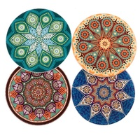 Handmade Ceramic Absorbent Stone Coasters for Drinks Ceramic Coastoers for Mugs and Cups