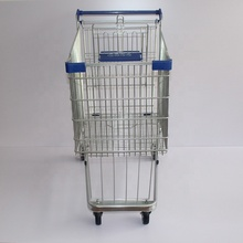 European style folding heavy duty shopping trolley 4 wheel shopping cart