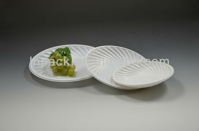 White Decorative Plastic Trays