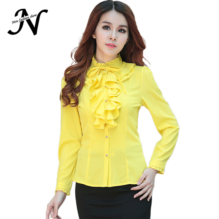 7bc100cb7731 Buy Female Shirts 2015 Spring Autumn Office Shirt Women Tops Rose Red  Yellow White Large Size Ladies Blouses 2015 Long Sleeve 6240 in Cheap Price  on ...