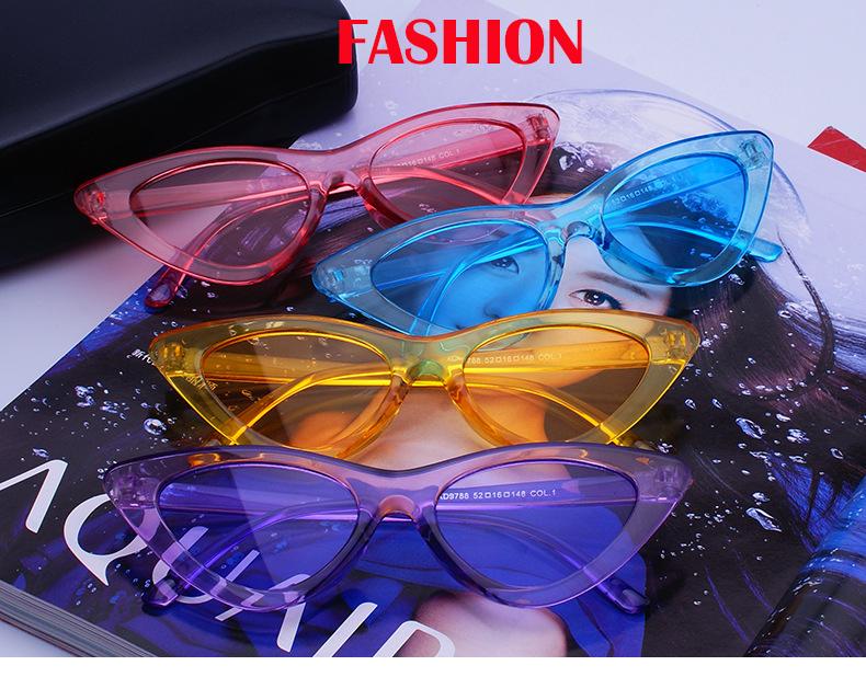 Bonbonfarben Sonnenbrille Für Frauen Katzenauge Sonnenbrille Marke Designer Mode Weibliche Brillen Cool UV400 gafas de sol