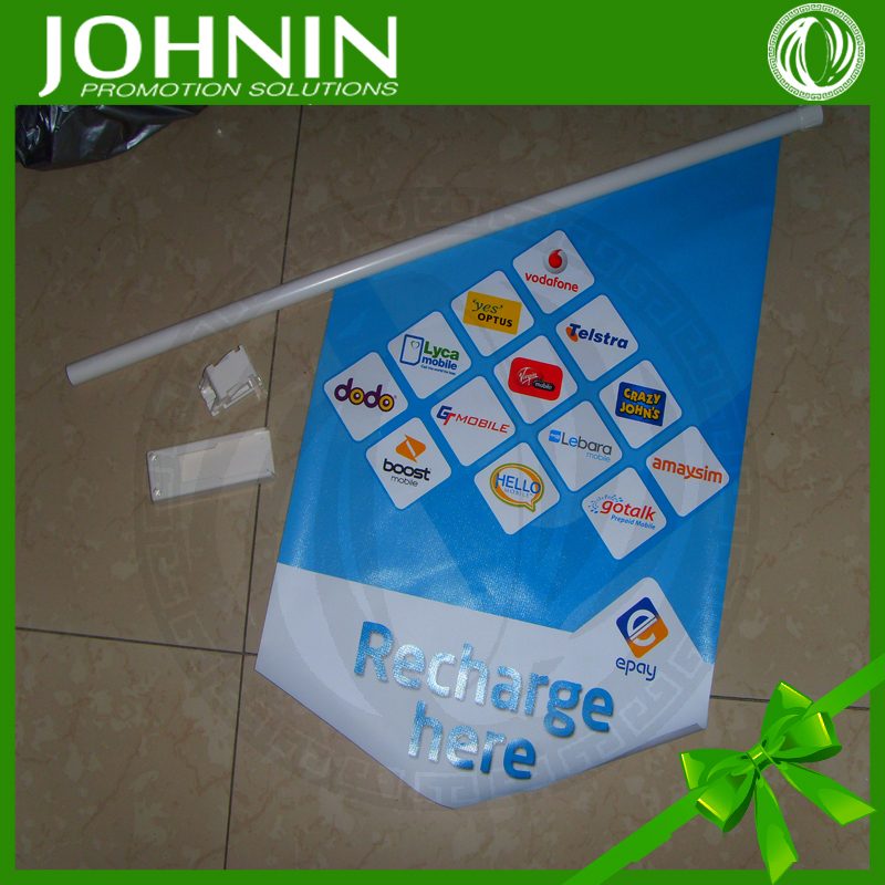 new products decorative hanging customed pvc material outdoor wall plastic flag pole
