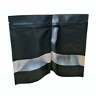 Matt black printing plastic bag packaging for spices zip lock spice packing bag