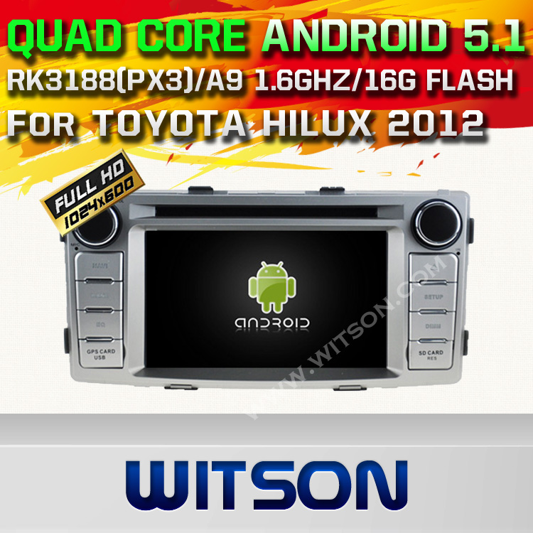 WITSON Android 5.1 DOUBLE DIN CAR DVD RADIO GPS For TOYOTA HILUX 2012 WITH CHIPSET 1080P 16G ROM WIFI 3G INTERNET DVR