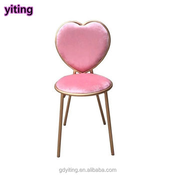 Lovely Style Heart Shaped Metal Iron Bar Chair