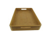 Natural Bamboo Serving Tray With Handles: Serve food, coffee or tea, or use as a party platter