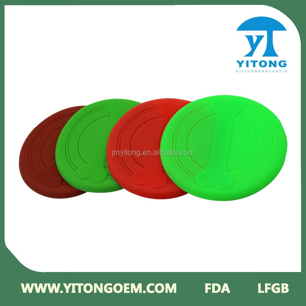 2015 Hot Sale High Quality Garden Play Toy Silicone Training Flying Disc