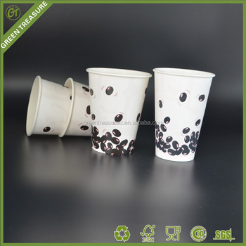 Coffee Bean Painting Raw Materials Disposable Paper Cup,Factory Logo  Printed Cold Soda Drinking Cup - Buy Coffee Bean Painting Raw Materials