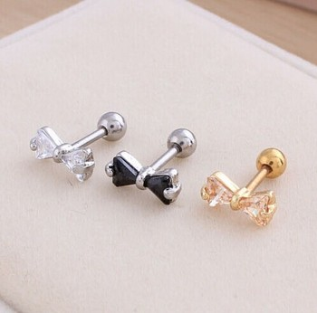 ear gem upper tragus helix loading top earring itm s bar image triple stud cartilage curve piercing is