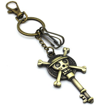 Promotion Antique 3D Metal Anime Key Shape One Piece Keychain