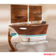 Hot Sale Acrylic Wood Boat Shape Mini Home Nightclub Restaurant Bar Counter Reception Desk for Sale
