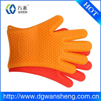 Christmas Kitchen Silicone Rubber Finger Protector Mitt For Oven Cooking Use