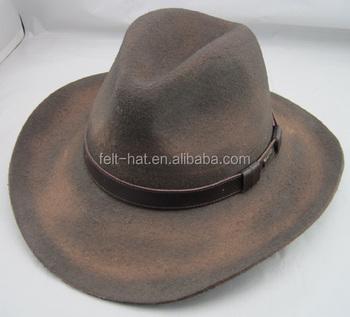afa3086fc8470 Vintage Dust Finish 100% Wool Felt Western Cowboy Hat - Buy ...