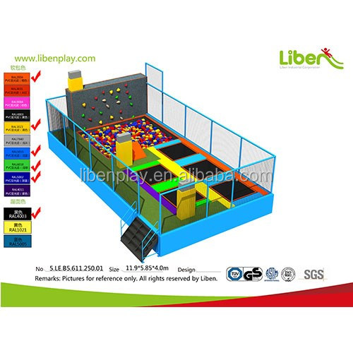 5.LE.B5.611.250.01 kids foam pit climbing rock commercial indoor trampoline park