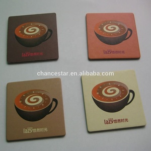 custom logo tea cup mats recyclable paper cardboard coasters