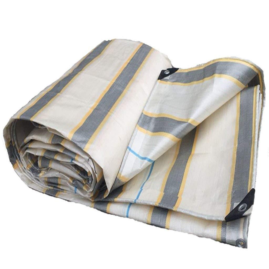 COZY HOME AAA Striped tarpaulin, waterproof, dustproof, wearable, easy to fold, store, outdoor use, garden pool, camping placemat, hammock, tarpaulin size: 3m3m