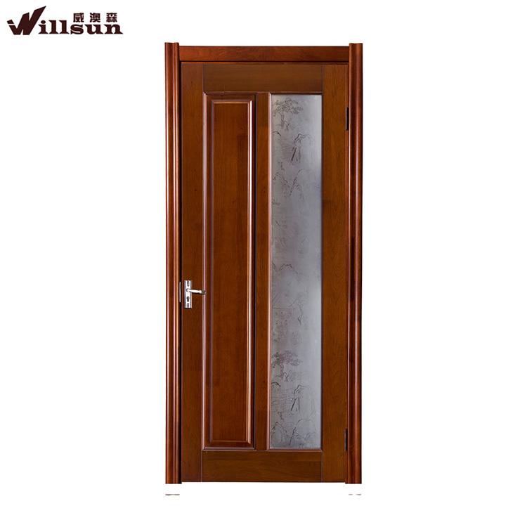 Insonorizadas Interiores De Vidrio Esmerilado Madera Estudio Puerta ...