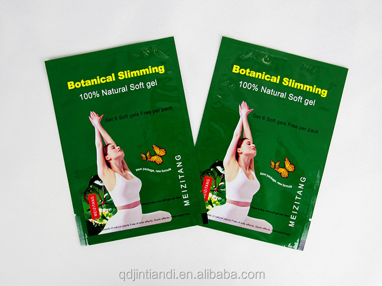 best selling botanical slimming soft gel aluminum foil pouch packaging laminated bag