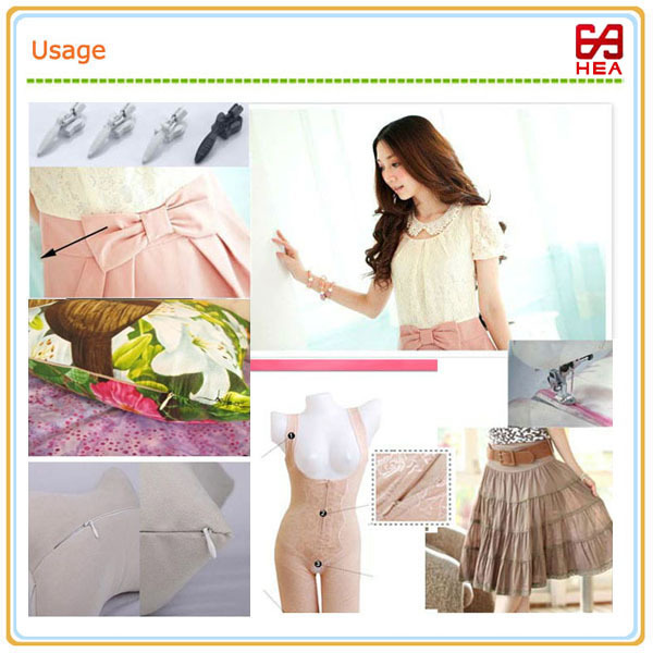 HEA Newest fashionable open end plastic invisible zipper for long skirts