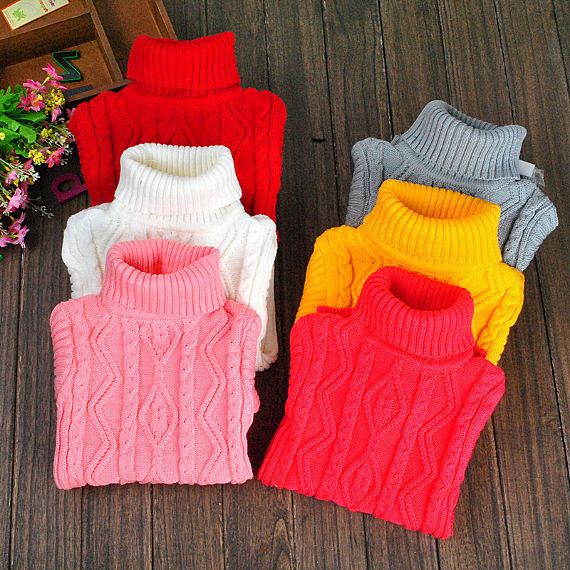 C87947A new fashion children high neck winter sweaters hot sale baby sweaters