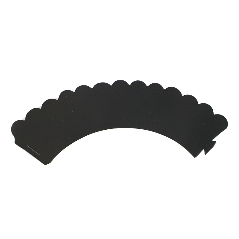 High quality black decorations cup cake wrappers