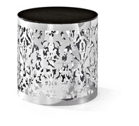 Cylindrical stainless steel carving flower shelf