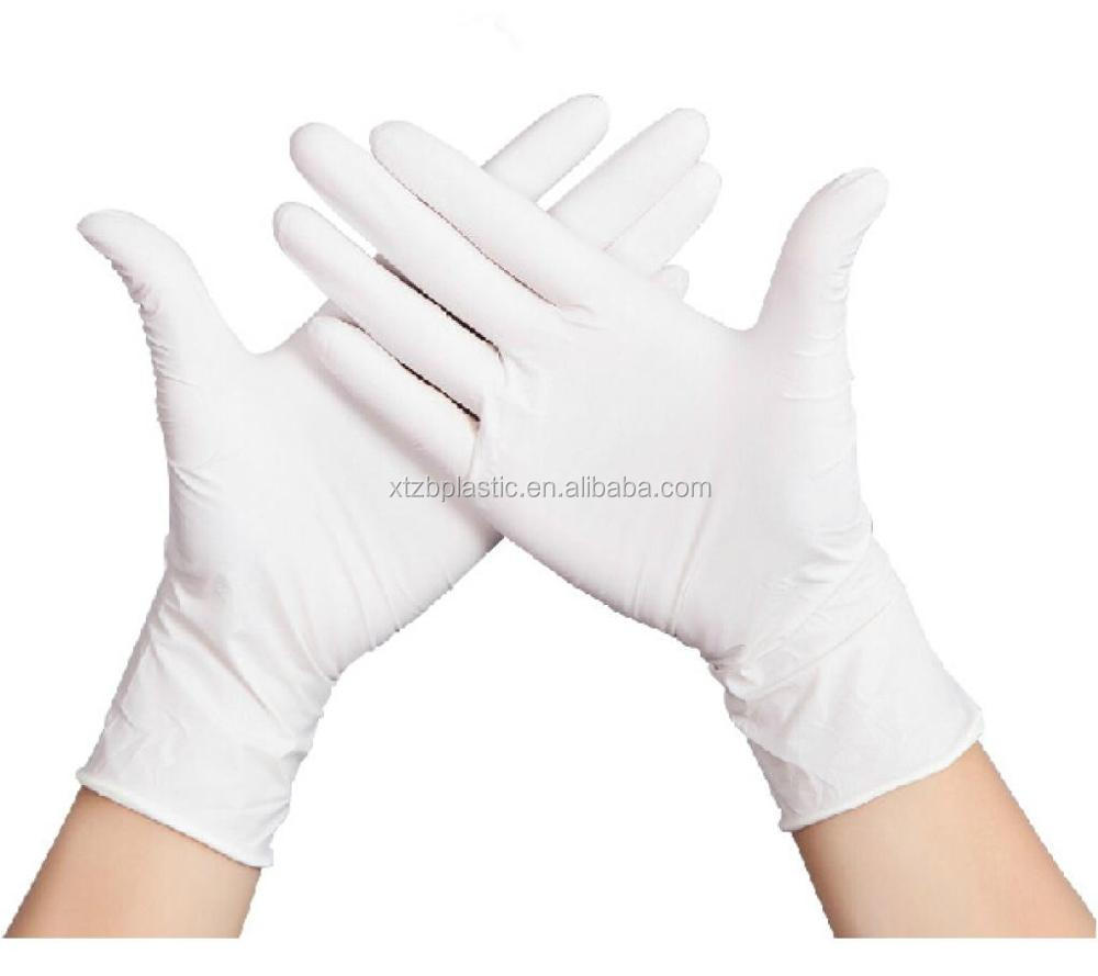 Disposable Surgical Non Sterile Powder Free Latex Examination Gloves