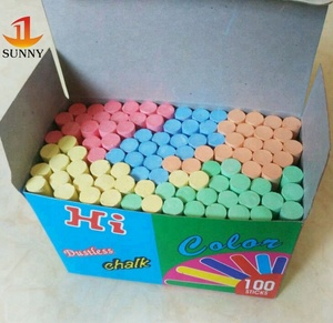 Eco friendly non toxic chalk for blackboard kids school muti color chalk
