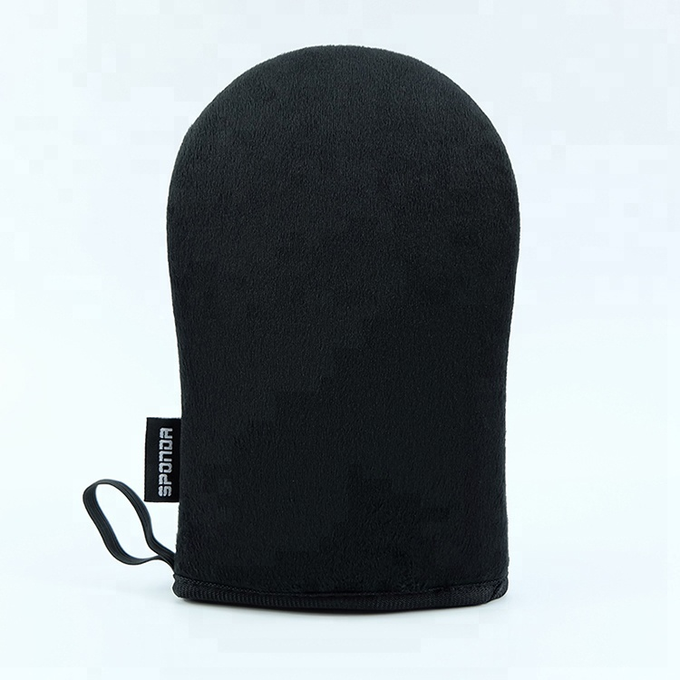 High Quality Black Velvet Tanning Mitt Applicator, Brown;black;pink;green;customized color available